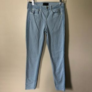 Vince Dylan Ankle Skinny Jeans Chambray 26
